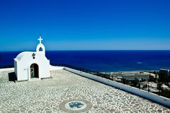Little church in Rhodes ,Greece Stock Photos