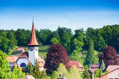 Little church in Spiez village Stock Photography