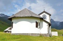 Little church in Tannalp, Switzerland Stock Photos