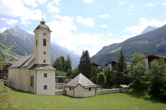 Little church in Tyroler Brandberg, Austria Stock Photo