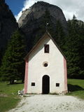 Little church in Vallongia, Dolomiti mountains Stock Photos