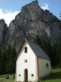 Little church in Vallongia, Dolomiti Stock Photo