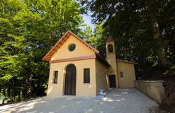 Little church in the woods of Monte Cucco, umbria Stock Image