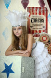 Little circus actress. Portrait of a little circus actress Stock Image
