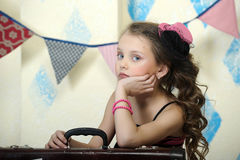 Little circus actress. Portrait of a little circus actress Royalty Free Stock Images