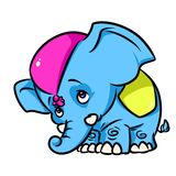 Little Circus Elephant cartoon illustration Royalty Free Stock Photo