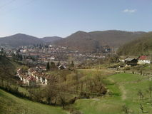 Little city landscape. Nice city in the mountains Stock Photography