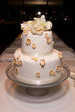 Little classic wedding cake - 2 Royalty Free Stock Images