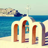 Little classical orthodox Greek church(Crete,Greece) Royalty Free Stock Image