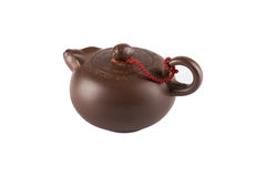 Little clay teapot Royalty Free Stock Image