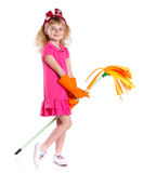 Little cleaning girl Royalty Free Stock Photos