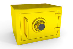 Little closed safe from gold. Stock Photography
