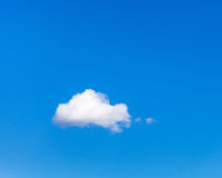 Little cloud in the summer blue sky Stock Image