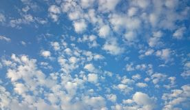 Little clouds on the sky. Little clouds on the blue sky Royalty Free Stock Photography