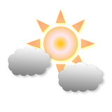 Little cloudy weather icon Royalty Free Stock Photo