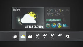 Little cloudy, Weather icon set animation stock video footage