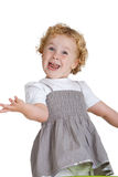 Little clown. Cute little three year old girl playing the clown and having fun Stock Image
