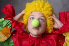Little clown disappointed royalty free stock photography