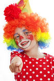 Little clown pointing on you Stock Images