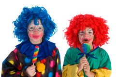 Little clowns Stock Image