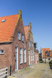 Little cobblestones street in historical city Hindeloopen Royalty Free Stock Images