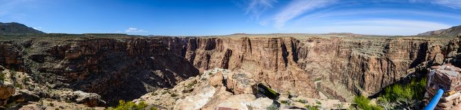 Little colorado river navajo tribal park. Panoramic view of canyon in Little colorado river navajo tribal park in Arizona, USA. There are steep canyon walls Stock Images