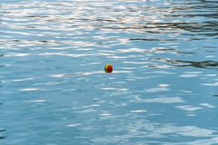 A little colored ball in the water royalty free stock images
