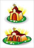 Little colored church Royalty Free Stock Images
