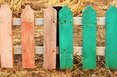 Little colored fence, outdoor, background Stock Photo
