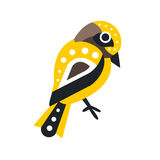Little colorful bird cartoon character vector Illustration Royalty Free Stock Images