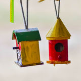 Little colorful bird houses Royalty Free Stock Photography