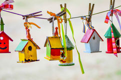 Little colorful bird houses Royalty Free Stock Photo