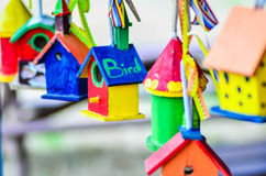 Little colorful bird houses Royalty Free Stock Photos