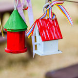 Little colorful bird houses Stock Image
