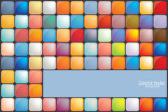 Little Colorful Squares Background Royalty Free Stock Images