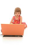 Little computer specialist Royalty Free Stock Images