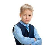 Little confident schoolboy Royalty Free Stock Photo