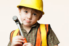 Little construction worker Royalty Free Stock Photography
