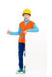 Little construction worker showing thumb up Stock Photography