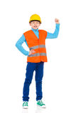 Little construction worker success Stock Photo