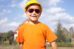 Little construction worker. Royalty Free Stock Images