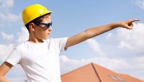 Little construction worker. Stock Photos