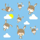 Little cony patternLittle cony pattern and cloud on sky vector illustration