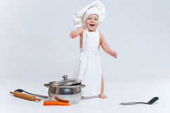 Little cook. Royalty Free Stock Photography