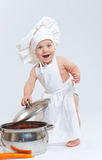 Little Cook. Royalty Free Stock Images