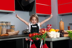 Little cook Stock Photography