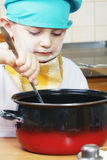 Little cook steering Stock Images