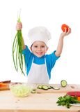 Little cooker with vegetables Stock Photography