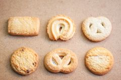 Little cookie on a beige backdrop stock photography