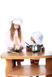 Little cooks Stock Images